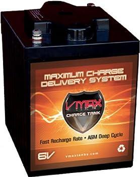 VMAXTANKS 6 Volt 225Ah AGM Battery  High Capacity & Maintenance Free Deep Cycle Battery for Golf Carts Solar Energy Wind Energy.