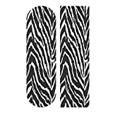 9' x 33' Skateboard Grip Tape,Zebra Printed Scooter Grip Tape,Longboard or Skateboard Grip Tape ,Grip Tape for Skateboard,Sandpaper Sheets