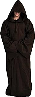 Men Tunic Hooded Knight Halloween Cloak for Jedi Robe Costume