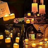 【2020 Neue】ORIA 12 LED Kerzen, Flammenlose Kerzen LED Teelicht Elektrische Kerzen Lichter, Batteriebetriebene Flackern Teelichter Kerzen Tealights für Weihnachten, Hochzeit, Party, etc - 9
