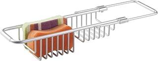 mDesign accessoire pour évier – porte-éponge pratique en aluminium pour le rangement d'accessoire de cuisine au-dessus de ...