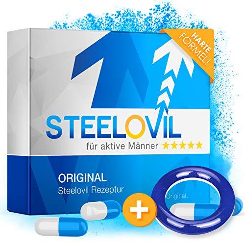 *NEU* STEELOVIL - Das Natürliche Potenzmittel mit der Einzigartigen Stiff-Power Formel I NEUTRALE LIEFERVERPACKUNG I 4 Hochdosierte Inhaltsstoffe
