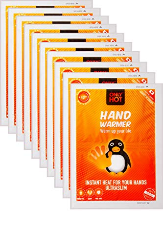 Only Hot Hand Warmers Handwärmer, 10 Stunden Wärme, einsatzbereit, selbstheizend, 100% natürlich, 10 Paar, Multipack