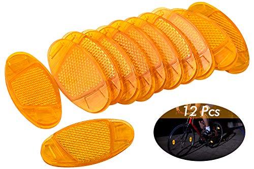 HENTEK 12 STK Fahrrad Speichenreflektoren Set Fahrrad Speichen Reflektoren für Fahrrad Mountainbike Rennrad Sicherheit