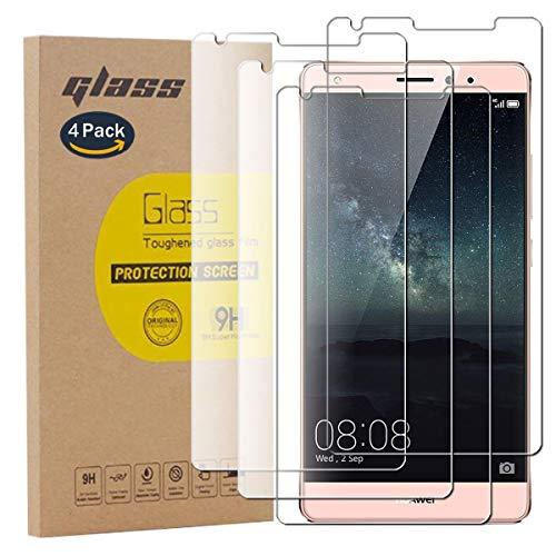 pinlu [4 Pack Protector de Pantalla de Cristal para Huawei Mate S...