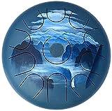 Thumue Drum in acciaio, 12 pollici 11 note Tamburo di linguetta in acciaio con motivo disegnata a mano Artista, bacchetta, percussioni Strumento tamburo in acciaio con mazze 404 Tamburo di forma del p