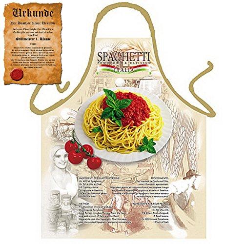 Tini - Shirts Italienische Kochschürze für Nudel Liebhaber : Spaghetti Italia !! mit GRATIS Urkunde !!