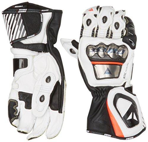 Dainese-FULL METAL D1 Handschuhe, Schwarz/Weiss/Fluo-Rot, Größe S