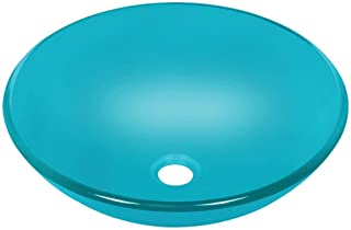 MR Direct 601 Turquoise Coloured Glass Vessel Sink