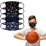 5PCS Kids Face Mask Bandana Reusable Washable School Students Cover Breathable Dust Covering for Boys and Girls