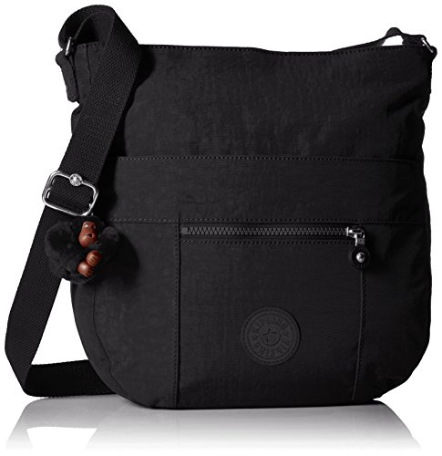 Kipling Bailey Tonal Saddle Bag Handbag, Black T