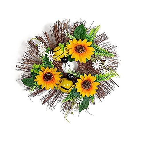Raspbery Guirnalda De Girasols Artificial Rama Decorativa De Primavera Verano Flores Artificiales Flores Artificiales para El Jardín del Hogar Decoración del Banquete De Boda Guirnalda Current