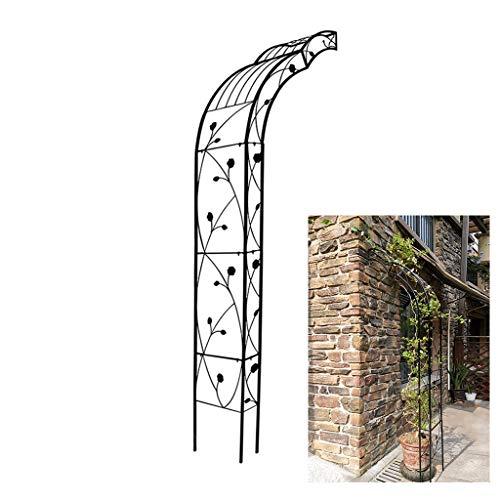YICO Pérgolas de jardín Montado en la Pared Soporte de Planta para Ivy Roses Pepinos Clematis 250cm de Altura, Celosía de Alambre