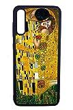 Bkstuff Funda Carcasa Obra de Arte, Cuadros Famosos (Samsung A50, El Beso, Klimt)