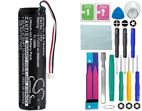 Cameron Sino–Batería de 3000mAh para Tomtom Go 300400500700710910con 14en 1Set de Herramientas de reparación Kit