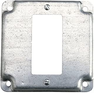 Thomas & Betts RS16-CC Pre-Galvanized Steel Outlet Box Cover 4 Inch x 4 Inch x 1/2 Inch Steel City