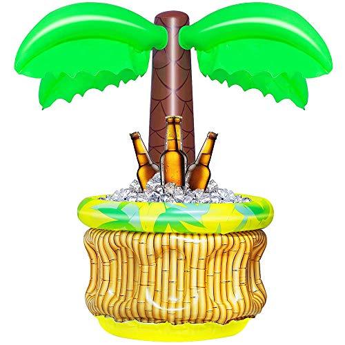 HITECHLIFE Drijvende Koelere Opblaasbare Ijsemmer, Poolpartij Ijs/Bier Koelere Emmer, Kleine Kokospalmcactus Ijs Drijvende Koelers Voor Pool