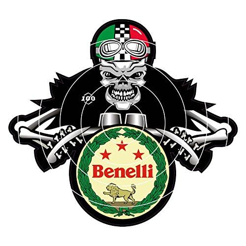 60MM Benelli DEM Bones Cafe Racer Sticker, use on Motorbikes, Scooters, Helmets, Leg Shields.…