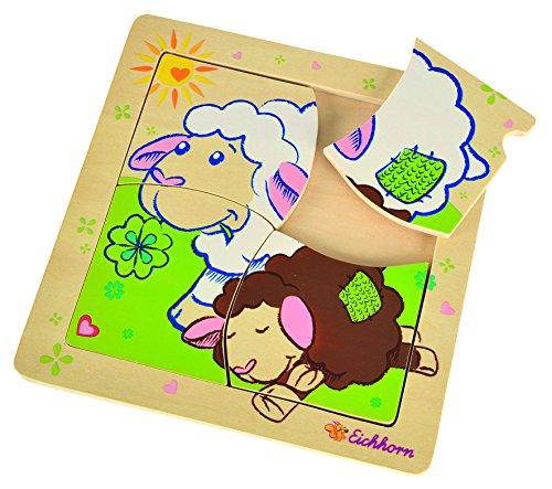 Simba Eichhorn 100005805 - línea de ovejas Einlegepuzzle, Colorido