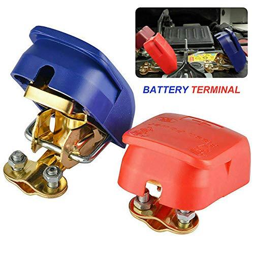 YFMXO Cosse Batterie, Rapide 12V Cosse Batterie Bornes de Voiture, Connecteurs de Borne de la Batterie pour Voiture, Camion, Bateau - Rouge et Bleu