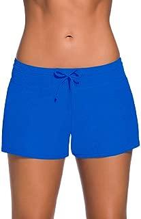 LUKEEXIN Women Sports Summer Bottom Slit Swim Beach Board Shorts