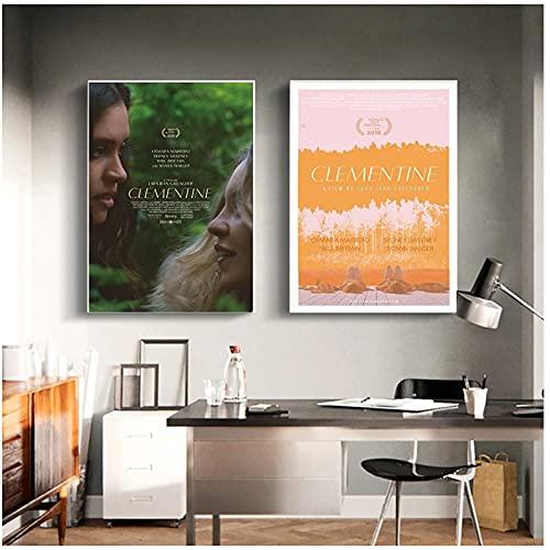 WEUEWQ póster Póster de película de Arte de Pared Clementine Movie Otmara Marrero Sydney Sweeney Art Decor Poster Imagen Regalo LienzoDecoración para el hogar -50x70cmx2 Sin Marco