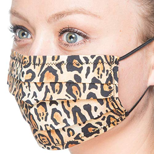 Maske Leo Animal Print | Mund-Nase-Abdeckung Staubmaske Mundschutz | Handarbeit | atmungsaktiv | Face Cover Mouth and Nose Cover Mask | handmade | breathable