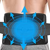 EDODRY Back Ice Wrap for Back Pain Relief, Reusable Ice Back Packs for Lower Back Injuries, Sprains, Sciatica, Coccyx, Scoliosis Herniated Disc, Adjustable Back Wrap for Men Women