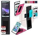 Hülle für HTC Desire 650 Tasche Cover Case Bumper | Pink