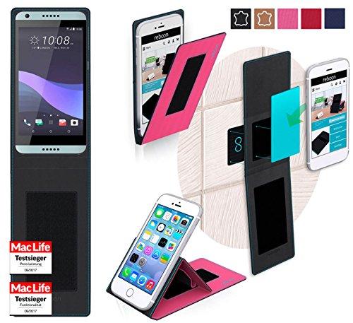 reboon Hülle für HTC Desire 650 Tasche Cover Case Bumper   Pink   Testsieger
