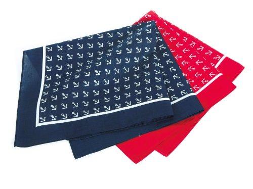 Modas Viereck-Halstuch mit Ankermotiv, Farbe:blau