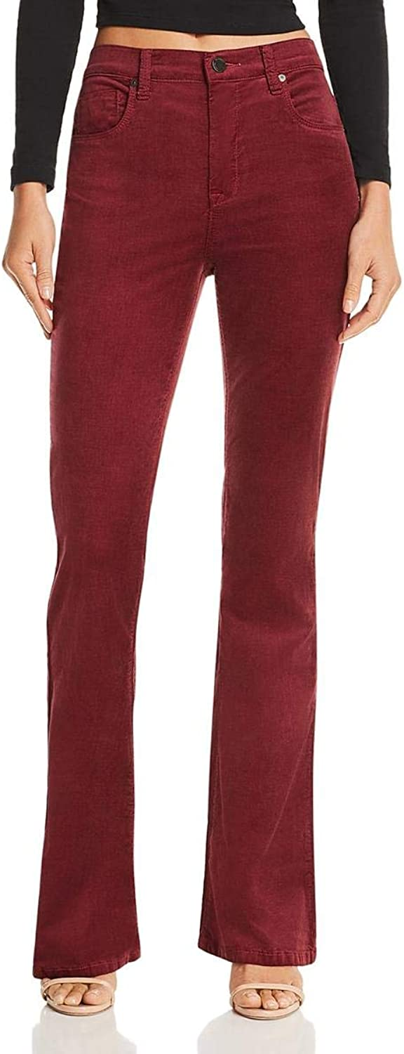 Blank NYC Womens HighRise Flare Corduroy Pants Red 25