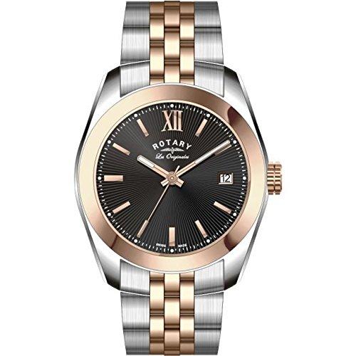 Rotary GB90111-04 Mens Les Originales Lausanne Two Tone Steel Bracelet Watch