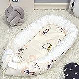 BUDBYU Babyliege Bett für Neugeborene, atmungsaktives Nest,Baby Nest, Baby Kissen Bett, Neugeborene Uterus Krippe Flanell Baumwolle Samt abnehmbare Bequeme Schlafdecke