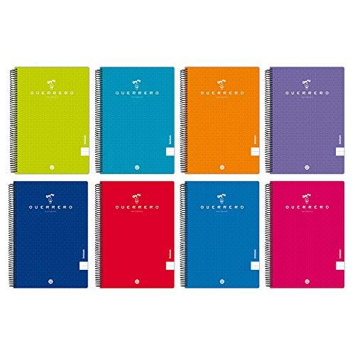 Unipapel 98442197. Pack de 5 Cuadernos Guerrero 08-Uniclasic, Pauta 3,5mm, Tapas Polipropileno,...