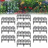 RuHan Recinzione da Giardino Decorativa in Metallo Nero, Bellissimo Filo Pieghevole collegabile Recinzione paesaggistica Bordo del Giardino Bordo - aiuola Bordi ad Incastro per Esterni Prato