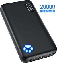 INIU Power Bank, Dual 3A Outplaces 20000mAh Portable Charger, Type C Entradas Batería Externa Pack, Compatible con iPhone 11 MAX XS X 8 Samsung Galaxy S11 S10 Note 10 iPad