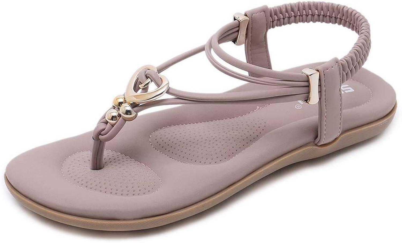 Women Summer Flat Slingback Sandals, Clip Toe Beach Walking Flip Flops Bohemian Braided Dress Sandals shoes