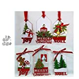 8 troqueles de corte de metal para decoración navideña, álbum de recortes, papel, cuchillo, cuchillo, hoja de perforación, plantillas