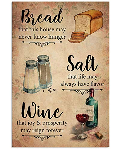 iWow Bread Salt Wine Gothic Magic Witch Vintage Wall Decor NO Frame Poster (Full Size 12x18/16x24/24x36) - Halloween, Christmas, Birthday Gift IDEA