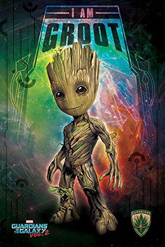 Guardians of the Galaxy 2 - I Am Groot - Space Film Poster Plakat Druck - Größe 61x91,5 cm + 1 Ü-Poster der Grösse 61x91,5cm