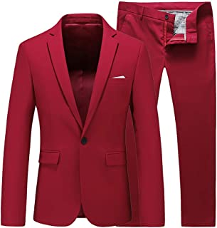 Mens Slim Fit 2 Piece Single Breasted Jacket Party Prom Tuxedo Suits