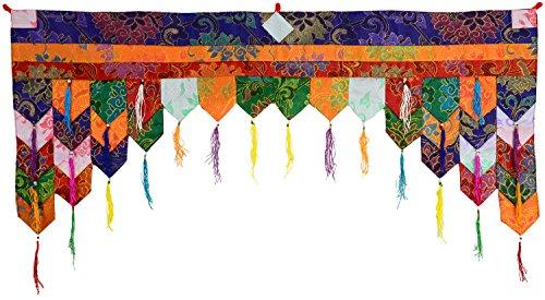 BUDDHAFIGUREN/Billy Held Tibetischer Chukor Wandbehang, Brokatstoff, bunt, 99 X 40 cm