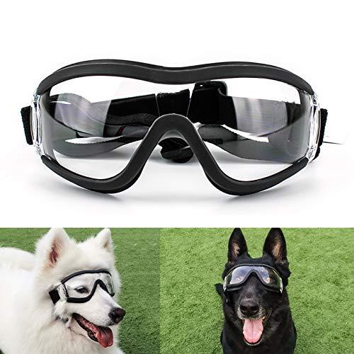 Namsan Dog Goggles - Large Breed Dog Sunglasses UV Prevent Clear Lens for Sensitive Dog Eyes Protection, Elastic Adjustable Straps