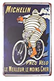 boutique d'isacrea - Placa de Metal Vintage Serigrafiado con neumático de Michelin, 20 x 30 cm...