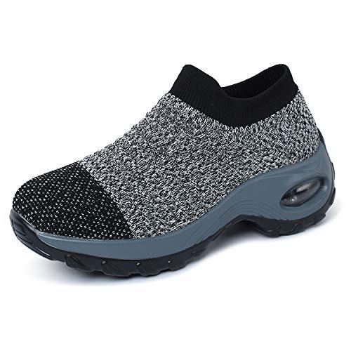 OUSIMEN Calzado Deportivo para Mujer Calzado Deportivo Calzado Deportivo para Aire Cojín de Aire Calzado Deportivo para Fitness Calzado Deportivo para Calle al Aire Libre Deportes-Muchos Colores ✅