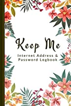 Keep me: A professional quality Logbook To Protect Usernames and Passwords: Login and Private Information Keeper, Vault No...