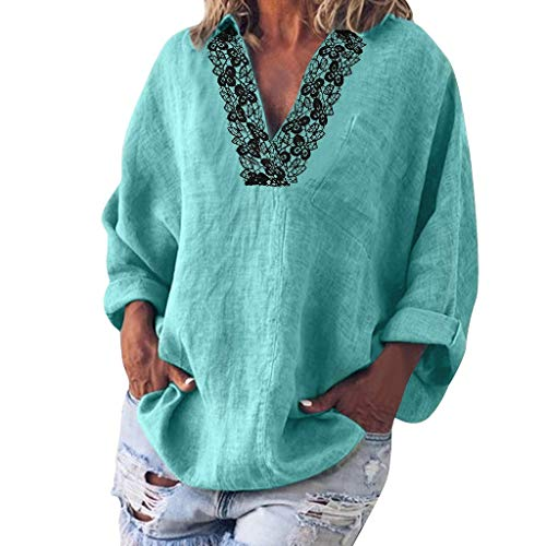 Padaleks Womens Sweater Pullover Cowl Neck Long Sleeve T-Shirt Button Asymmetrical Split Tunic Tops Oversize Sweatshirt