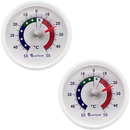 Lantelme Thermomètre de réfrigérateur 2 pcs. set analogique autocollant Thermomètre de congélateur 4656