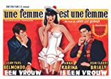 A Woman Is a Woman Poster Movie Belgian 11x17 Jean-Claude Brialy Anna Karina Jean-Paul Belmondo